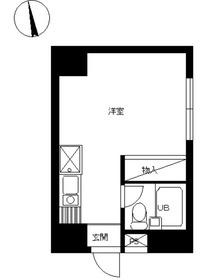 スカイコート町田4階Fの間取り画像