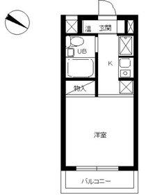 スカイコート二俣川1階Fの間取り画像