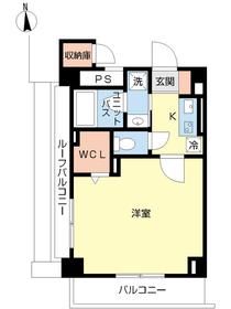 スカイコート本郷東大前壱番館14階Fの間取り画像