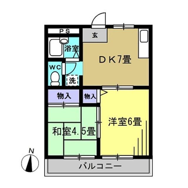DK7 洋室6 和4.5