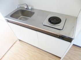 電気コンロが1口完備されているキッチン♪