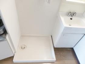 室内洗濯機置き場です☆洗面台の隣についてます☆