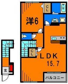 2階の中部屋は1LDK♪