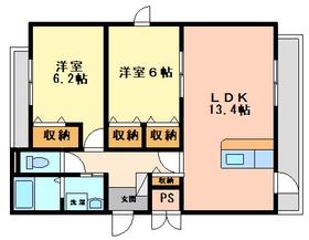 2LDK 60平米 6.5万円 愛媛県松山市古川西3丁目7ー31