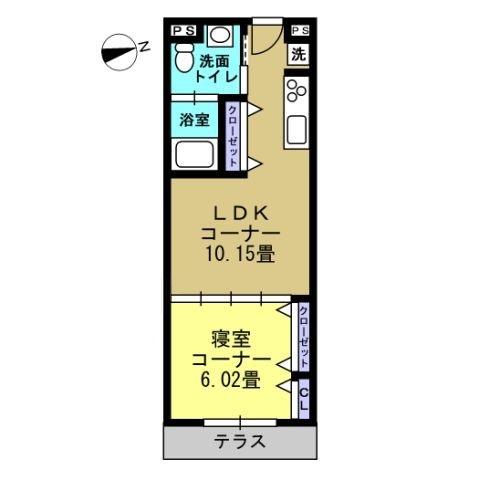 1LDK LDK10.1 洋6