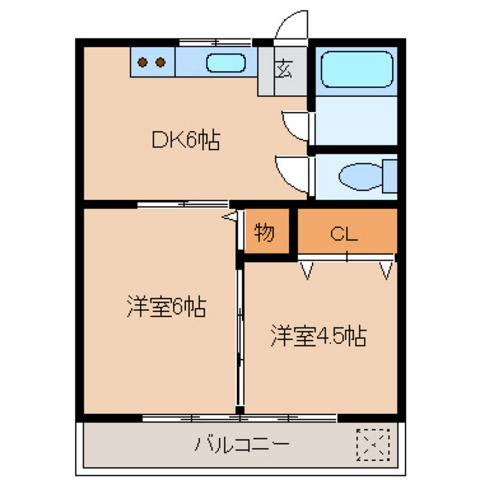 DK6帖 洋室6帖 洋室4.5帖