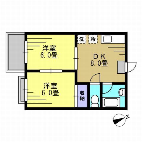 DK8帖、洋室6帖、洋室6帖