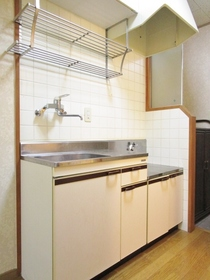 2口ガスコンロ設置の独立キッチン