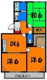 使い勝手の良い3DK!収納充実で物持ちの方も安心