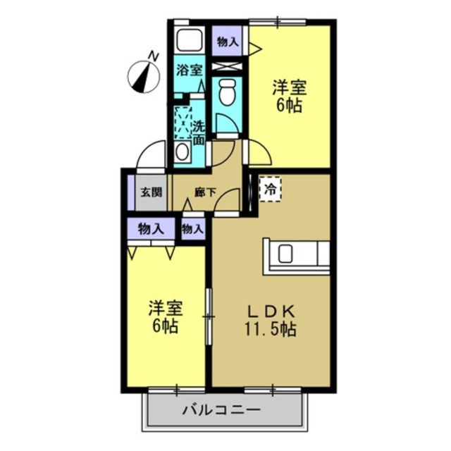 LDK11.5帖・洋室6帖・洋室6帖