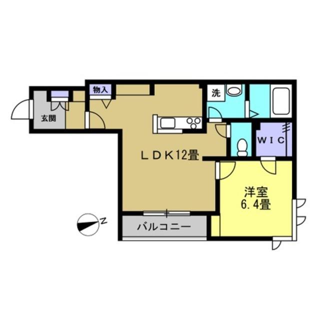 LDK12.6帖・洋室6.4帖