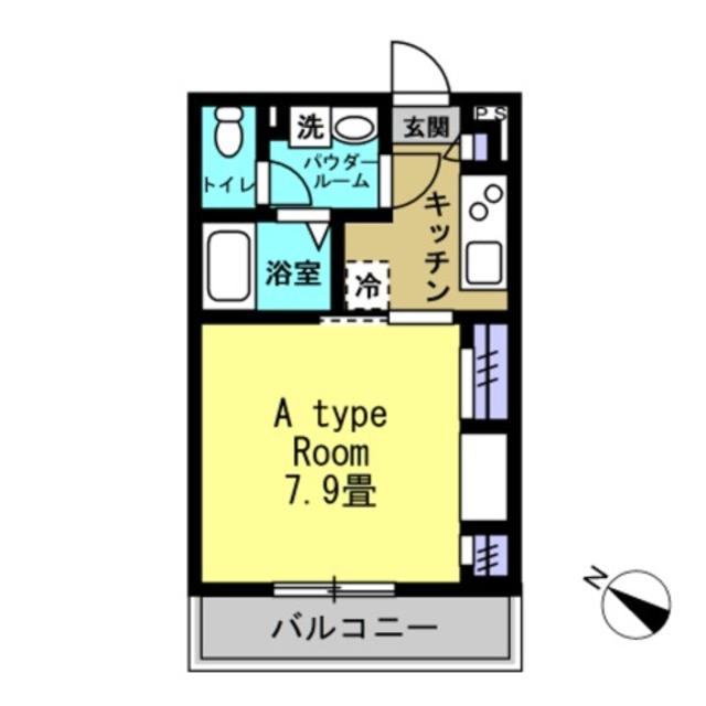 1K洋室7.9帖