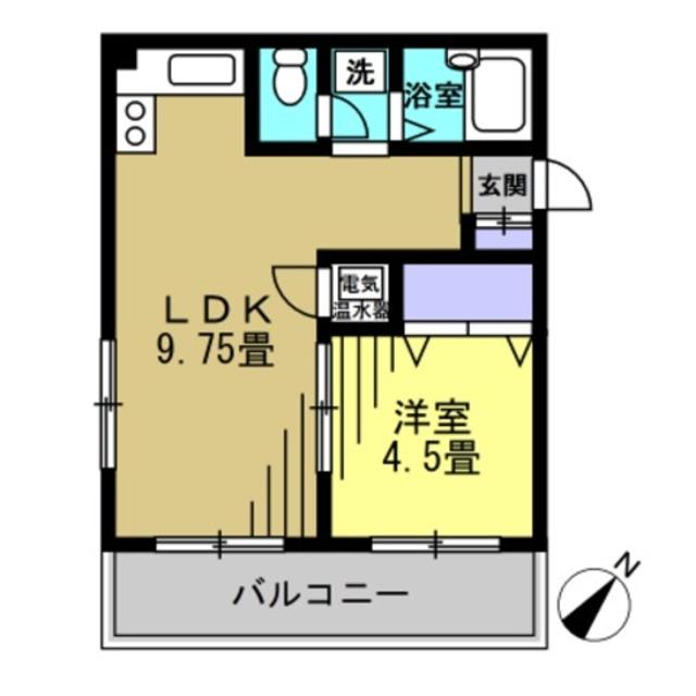 LDK9.75帖 洋室4.5帖