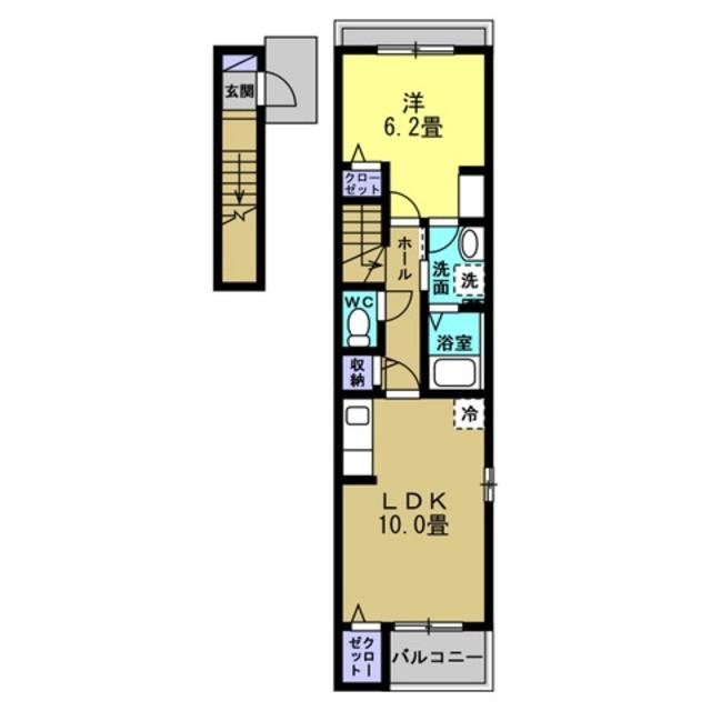 LDK10帖・洋室6.2帖