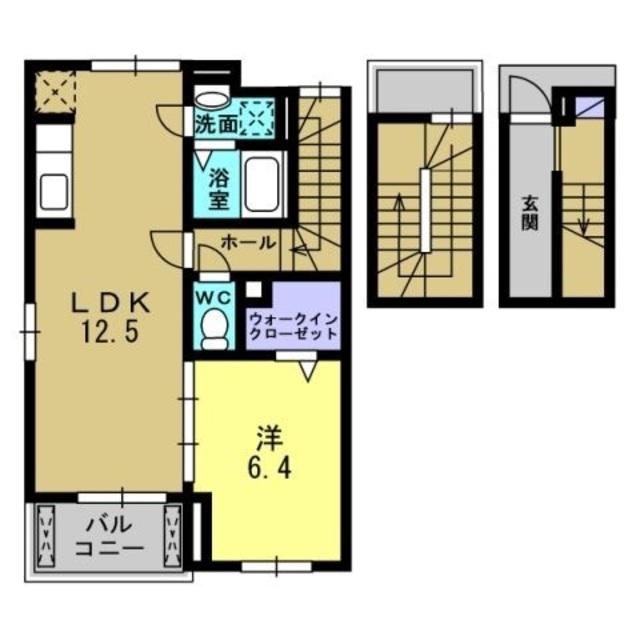 LDK12.5帖、洋室6.4帖