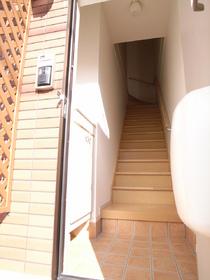 1階から階段上って2階にGO!