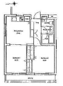 ソサエティ柿の木坂ウエストステージ2階Fの間取り画像