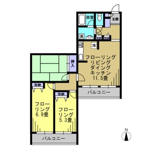 LDK11.5帖 和室6帖 洋室6.9帖洋室5.3帖