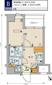スカイコート豊島南長崎6階Fの間取り画像