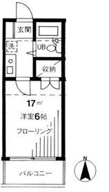 池尻大橋駅 徒歩14分2階Fの間取り画像