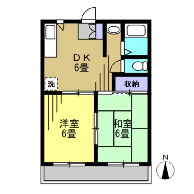 DK6帖 洋室6帖 和室6帖
