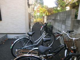 自転車置けます。