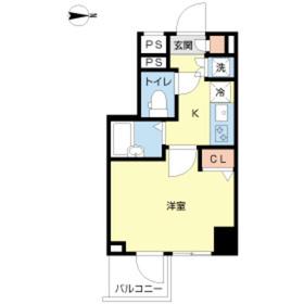 スカイコート菊川2階Fの間取り画像