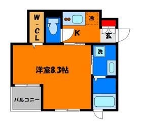 ウォークインクローゼット付きの8.3帖の洋室☆