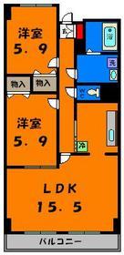 独立キッチンが嬉しい2LDK!オール洋室もオススメポイント☆