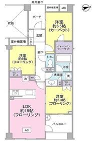 プラウド世田谷桜丘4階Fの間取り画像