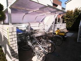 自転車置場は屋根付きですよ!