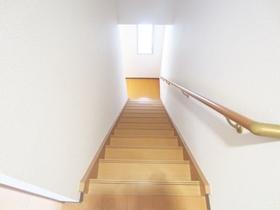階段も手すりが付いているので安心です!