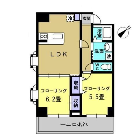 LDK10.4帖 洋室5.5帖 洋室6.2帖