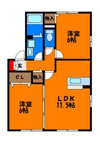オール洋室の築浅2LDKです☆