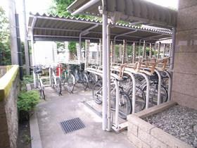 屋根付自転車置場!