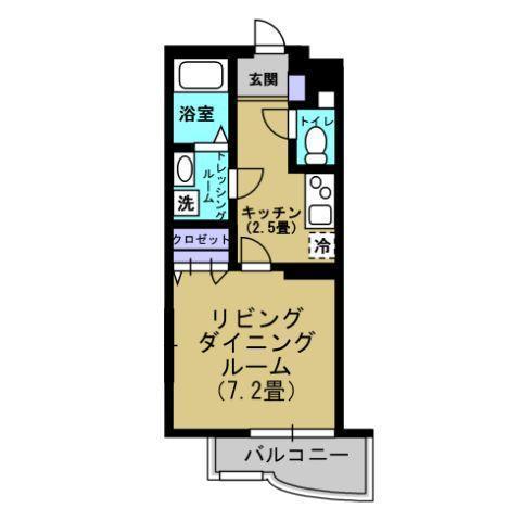 K2.5帖、洋室7.2帖
