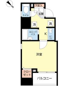 スカイコート本郷東大前弐番館8階Fの間取り画像
