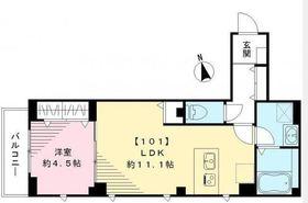 ビューノ目黒本町1階Fの間取り画像