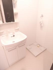 独立洗面台はシャンプードレッサー!室内に洗濯機も置けます!