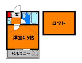 ロフト付きのシンプルなお部屋♪