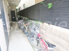 自転車はこちらに置けますね☆
