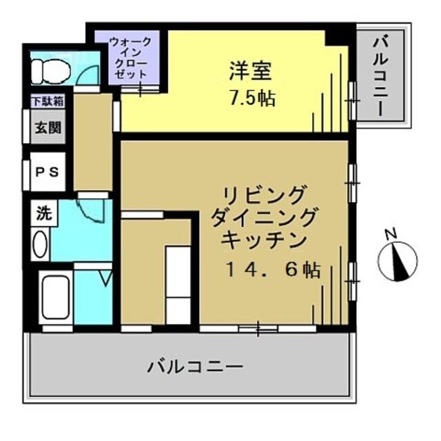 LDK14.6帖・洋室7.5帖