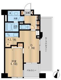 クリオ上野毛ラ・モード6階Fの間取り画像