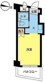 スカイコート西川口第25階Fの間取り画像