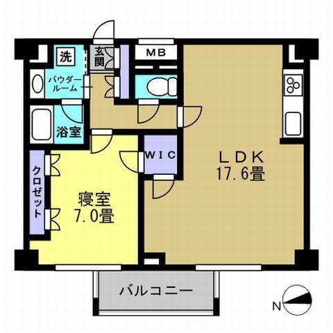 1LDK LDK17.6 洋7
