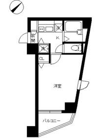 スカイコート後楽園第514階Fの間取り画像