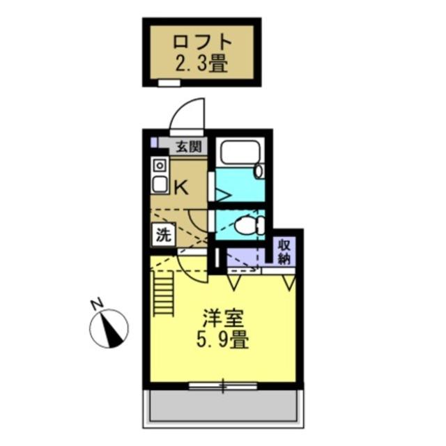 洋5.9帖 ロフト2.3帖