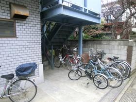 自転車も置けますよ。