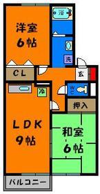 広めのLDKに使いやすい6帖の洋室、和室1部屋づつです♪