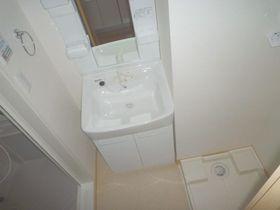 1Kで嬉しい室内洗濯機置き場と独立洗面台!